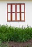 Parede de madeira da janela Fotografia de Stock
