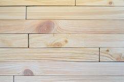 Parede de madeira da prancha para o projeto e a decoração Imagem de Stock