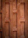 Parede de madeira do estilo tailandês Imagens de Stock