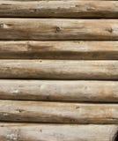 Parede de madeira dos registros fotografia de stock
