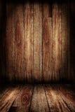 Parede de madeira e assoalho de madeira Foto de Stock Royalty Free