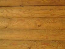 Parede de madeira feita da textura dos logs Imagens de Stock