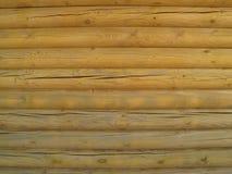 Parede de madeira feita da textura dos logs Foto de Stock