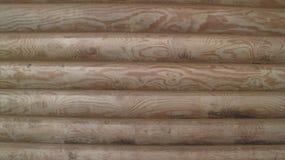 Parede de madeira feita dos logs Foto de Stock Royalty Free