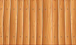 Parede de madeira, fundo de madeira amarelo alaranjado da textura da parede para o projeto gráfico, vetor ilustração stock