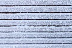 Parede de madeira gelado Imagens de Stock