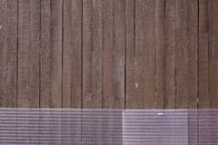 Parede de madeira na casa rural japonesa Fotos de Stock