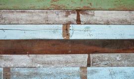 Parede de madeira na cor diferente Imagens de Stock Royalty Free
