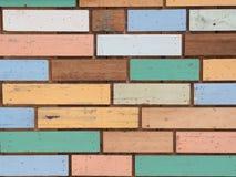 Parede de madeira pastel Imagem de Stock