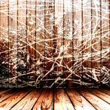 Parede de madeira pintada Imagem de Stock