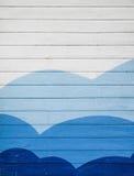 Parede de madeira pintada Fotografia de Stock