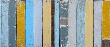 A parede de madeira pintada velha Imagem de Stock