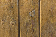 Parede de madeira pintada velha Imagens de Stock
