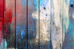 Parede de madeira pintada velha - textura ou fundo Imagens de Stock Royalty Free