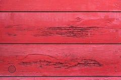Parede de madeira pintada vermelho Imagem de Stock