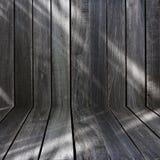 Parede de madeira preta Imagens de Stock