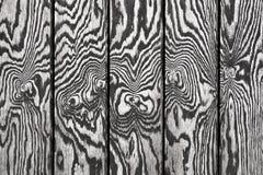 Parede de madeira preto e branco Foto de Stock Royalty Free