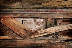 Parede de madeira quebrada fotografia de stock royalty free