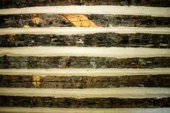 Parede de madeira rústica Imagens de Stock