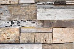 Parede de madeira recuperada da prancha Imagens de Stock