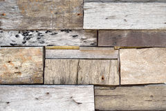 Parede de madeira recuperada da prancha Imagens de Stock Royalty Free