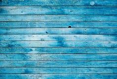 Parede de madeira suja azul Fotografia de Stock Royalty Free