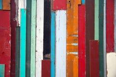 Parede de madeira usada resistida Imagens de Stock Royalty Free