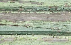 Parede de madeira velha com pintura rachada Foto de Stock Royalty Free