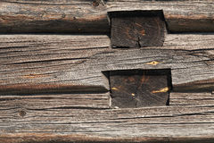 Parede de madeira velha da casa de campo Imagens de Stock