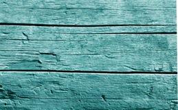 Parede de madeira velha no tom ciano fotos de stock