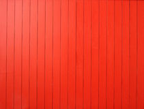 Parede de madeira vermelha Imagens de Stock