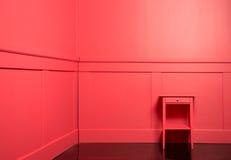 Parede de madeira vermelha colorida Foto de Stock