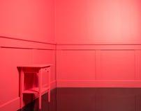 Parede de madeira vermelha colorida Foto de Stock Royalty Free