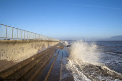 Parede de mar em Southwold, Suffolk, Inglaterra Imagens de Stock Royalty Free