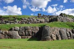 Parede de pedra antiga em Peru fotos de stock