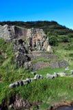 Parede de pedra antiga em Peru foto de stock