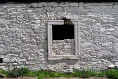 Parede de pedra branca Fotos de Stock