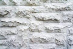 Parede de pedra branca como um fundo Foto de Stock Royalty Free