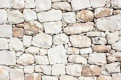 Parede de pedra branca do vintage fotografia de stock