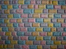 Parede de pedra colorida do bloco Fotos de Stock
