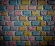 Parede de pedra colorida do bloco Imagens de Stock Royalty Free