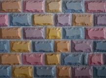 Parede de pedra colorida do bloco Fotografia de Stock Royalty Free