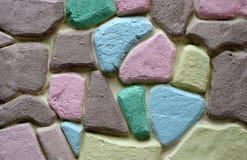Parede de pedra colorida do bloco Imagem de Stock Royalty Free