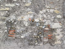 Parede de pedra concreta Imagens de Stock