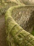 Parede de pedra curvada Fotografia de Stock