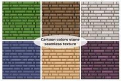 Parede de pedra da cor diferente sem emenda da textura Imagem de Stock Royalty Free