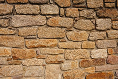 Parede de pedra da rocha Imagem de Stock