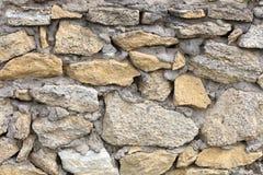 Parede de pedra das pedras da pedra calcária Textura abstrata Fotografia de Stock