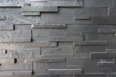Parede de pedra do bloco preto Fotografia de Stock