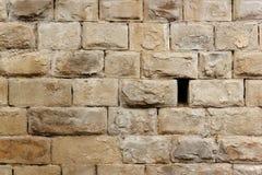 Parede de pedra do brik Fotografia de Stock Royalty Free